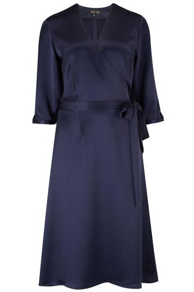 Elif Kose Sateen Wrap Dress available on elifkose.com