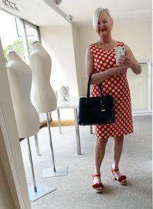 Artichoke's Pomodoro Spot Dress (£73) & Sac De Jour (£80)