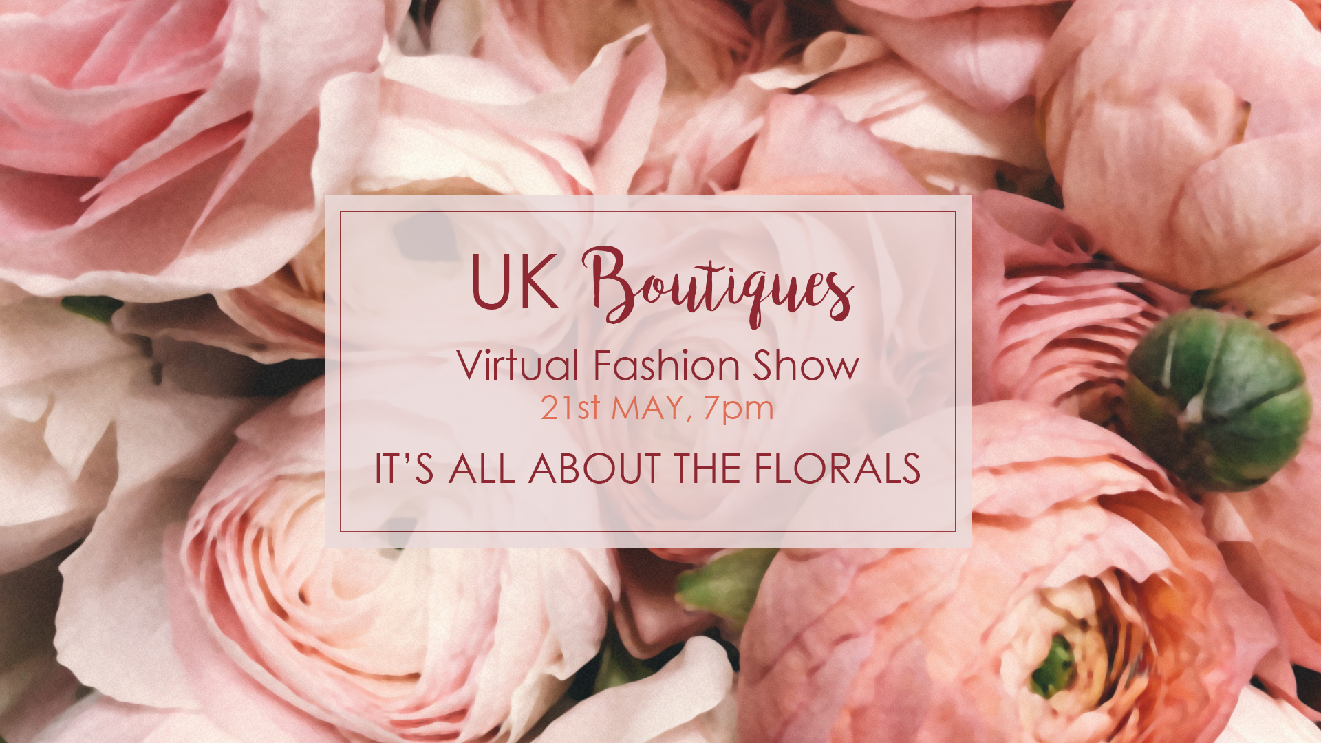 UK Boutiques Floral Virtual Fashion Show for RHS Chelsea Flower Show