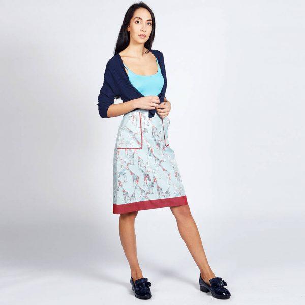 Lagom Riviera Giraffe Skirt Blue